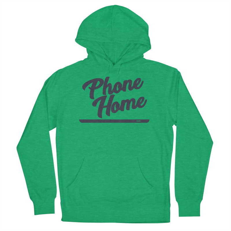 Phone Home Men's French Terry Pullover Hoody by Mike Hampton's T-Shirt Shop