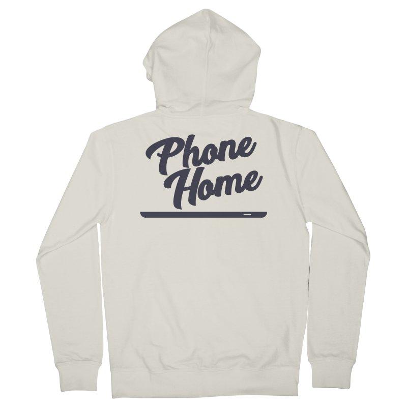Phone Home Women's French Terry Zip-Up Hoody by Mike Hampton's T-Shirt Shop