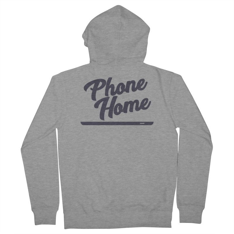 Phone Home Men's French Terry Zip-Up Hoody by Mike Hampton's T-Shirt Shop