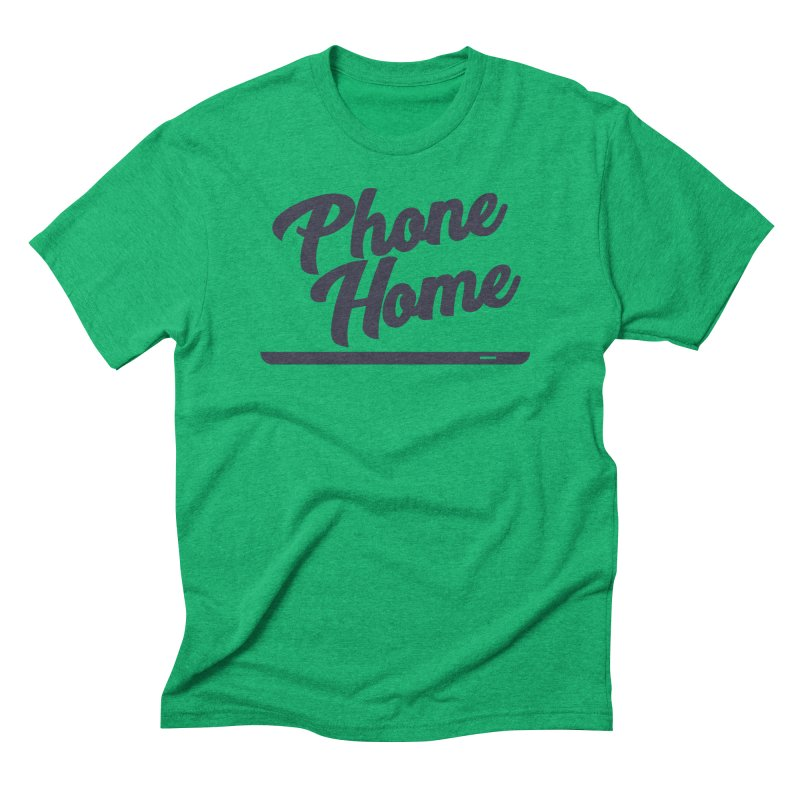 Phone Home Men's Triblend T-Shirt by Mike Hampton's T-Shirt Shop