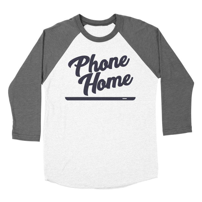 Phone Home Women's Baseball Triblend Longsleeve T-Shirt by Mike Hampton's T-Shirt Shop