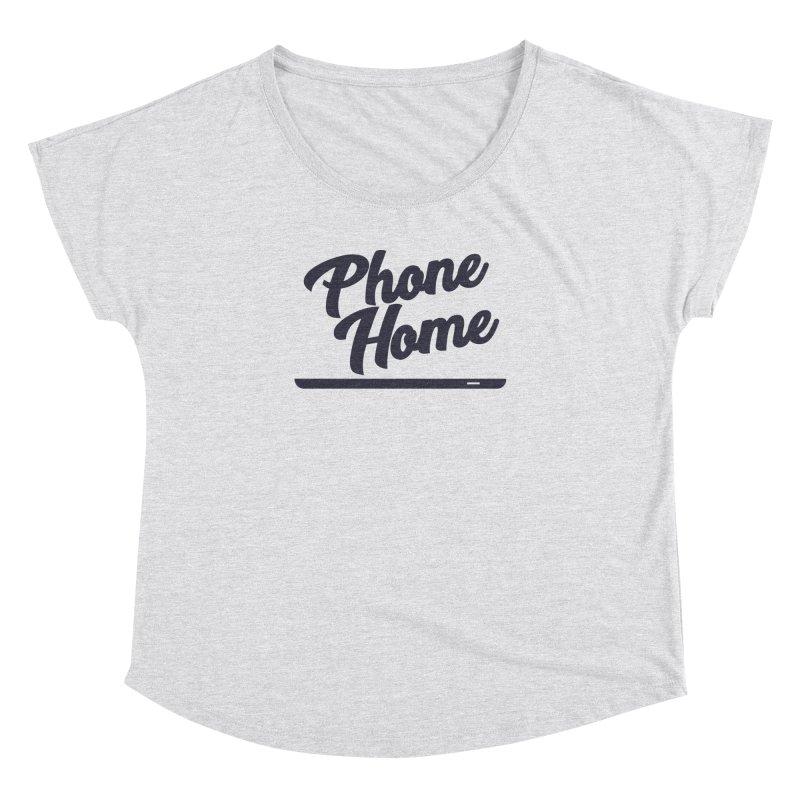 Phone Home Women's Dolman Scoop Neck by Mike Hampton's T-Shirt Shop