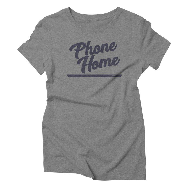 Phone Home Women's Triblend T-Shirt by Mike Hampton's T-Shirt Shop
