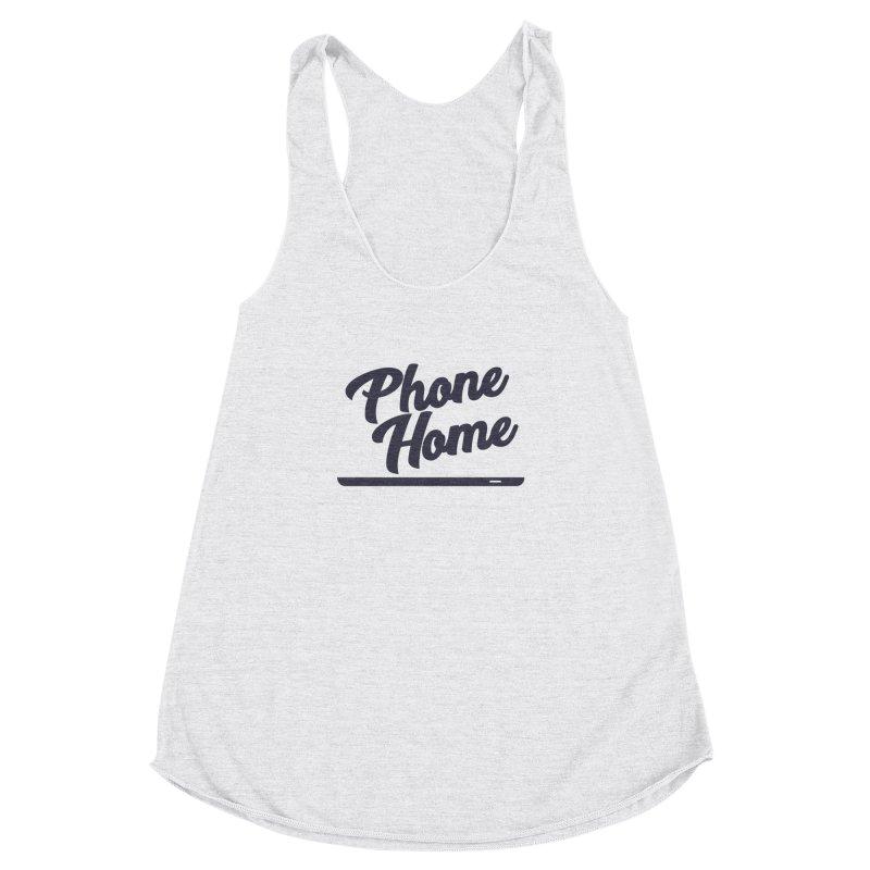 Phone Home Women's Racerback Triblend Tank by Mike Hampton's T-Shirt Shop