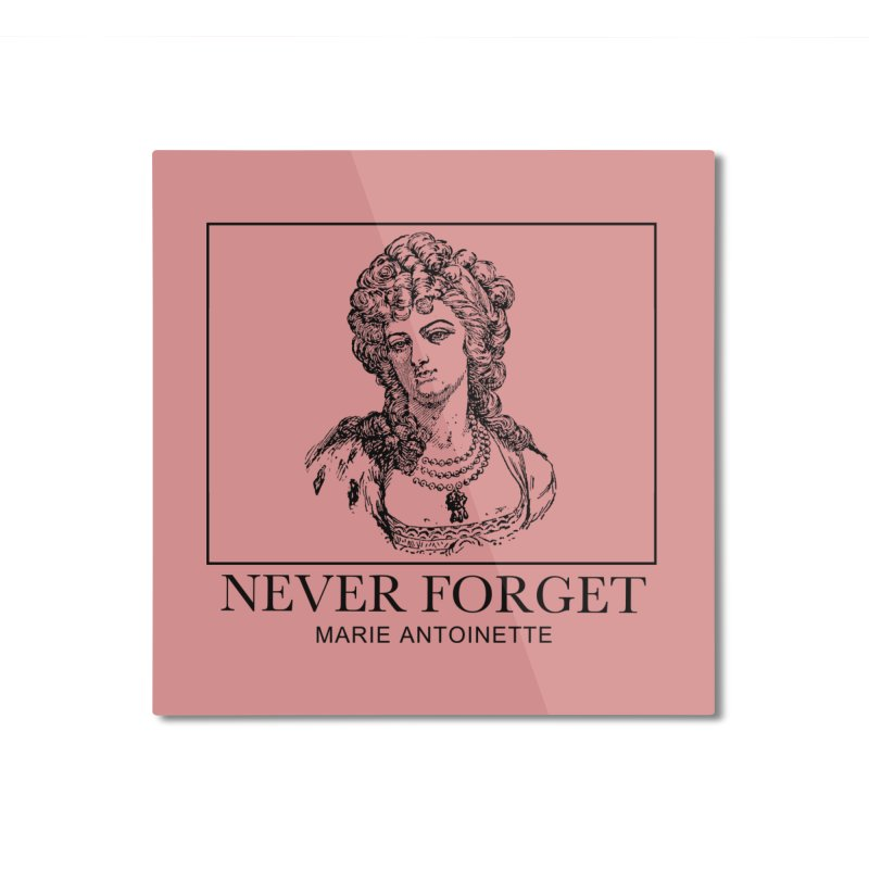 Never Forget Home Mounted Aluminum Print by Mike Hampton's T-Shirt Shop