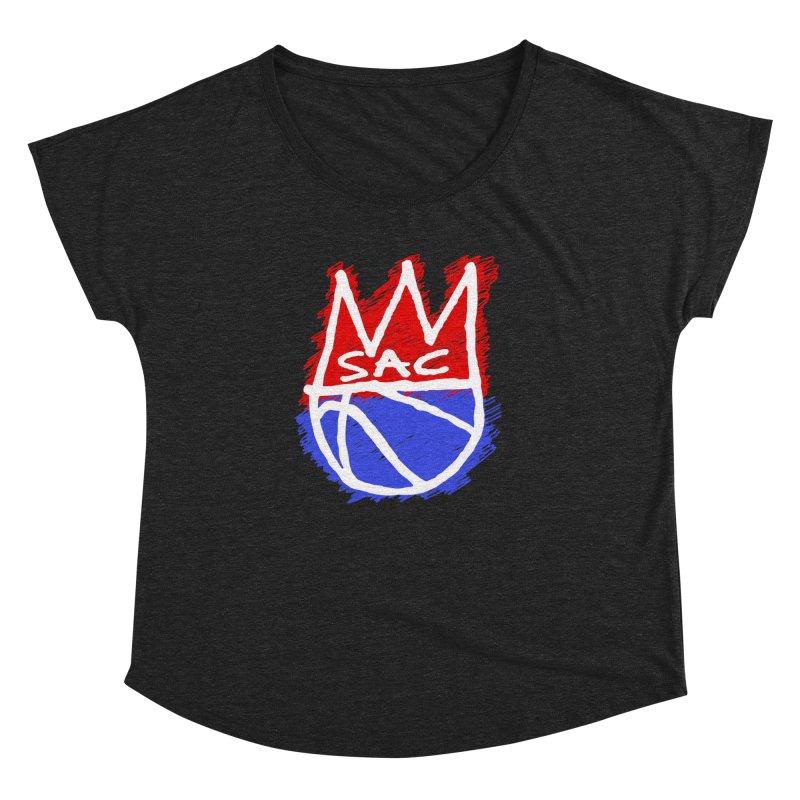 Basquait Kings 1 Women's Dolman Scoop Neck by Mike Hampton's T-Shirt Shop