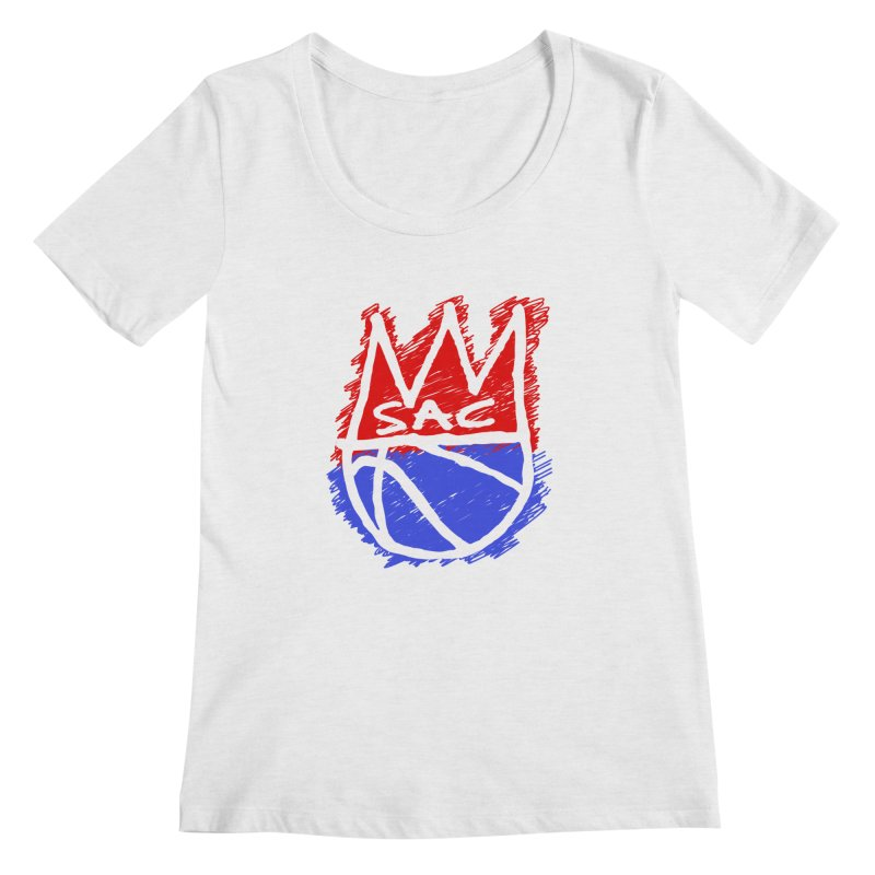 Basquait Kings 1 Women's Regular Scoop Neck by Mike Hampton's T-Shirt Shop