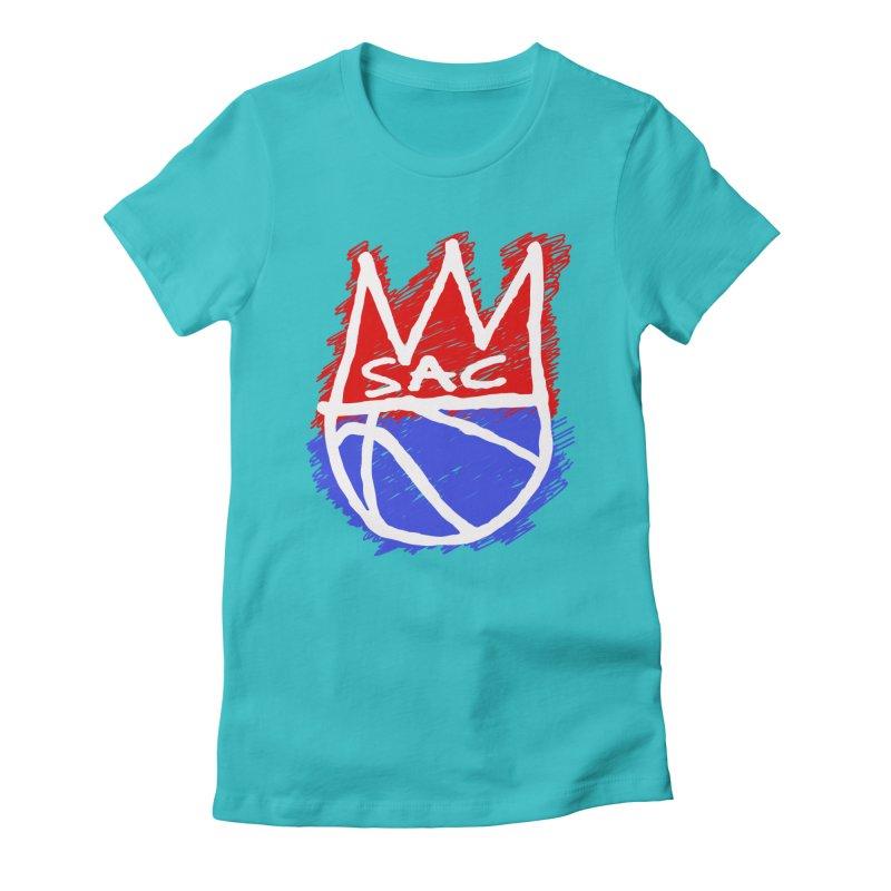 Basquait Kings 1 Women's Fitted T-Shirt by Mike Hampton's T-Shirt Shop