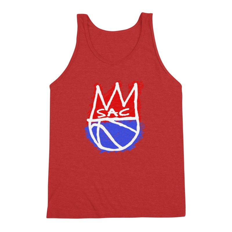Basquait Kings 1 Men's Triblend Tank by Mike Hampton's T-Shirt Shop