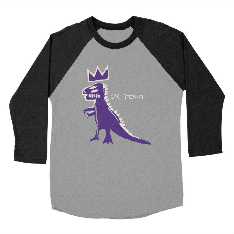 Basquiat Kings 3 Women's Baseball Triblend Longsleeve T-Shirt by Mike Hampton's T-Shirt Shop