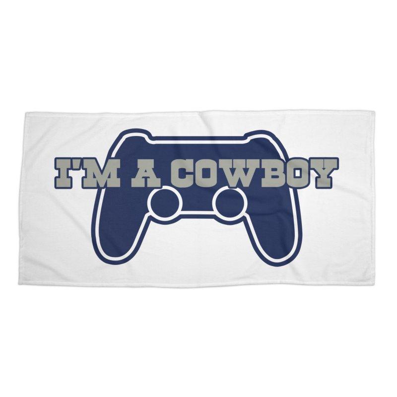 I'm a Cowboy Accessories Beach Towel by Mike Hampton's T-Shirt Shop