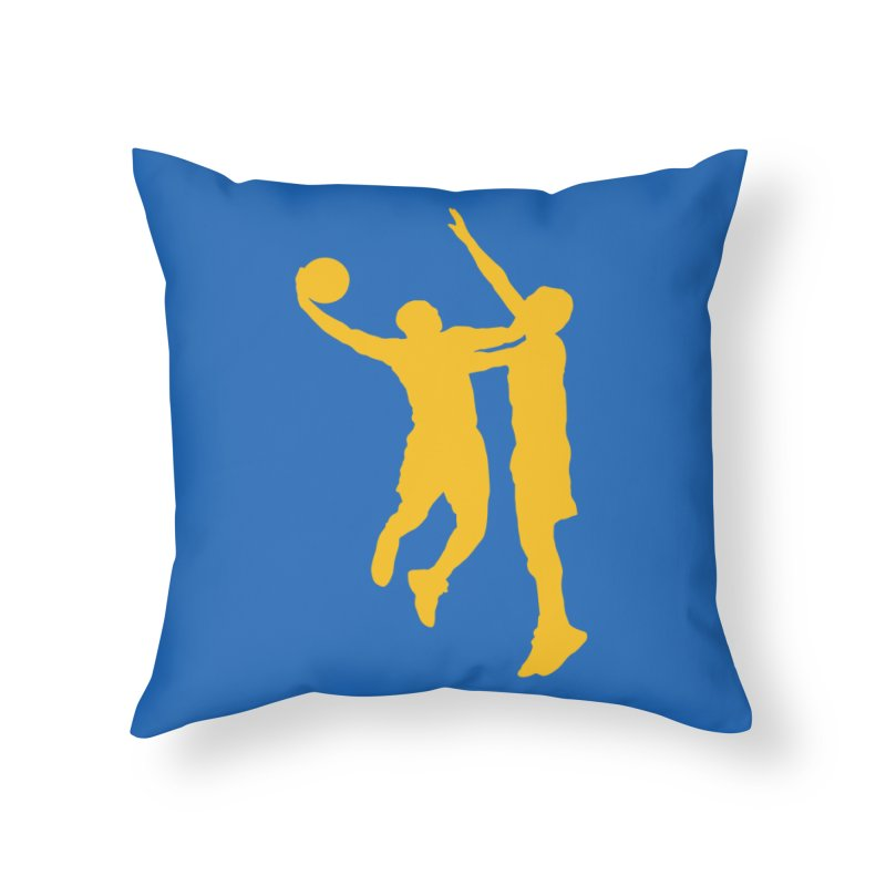 The Dunk Home Throw Pillow by Mike Hampton's T-Shirt Shop