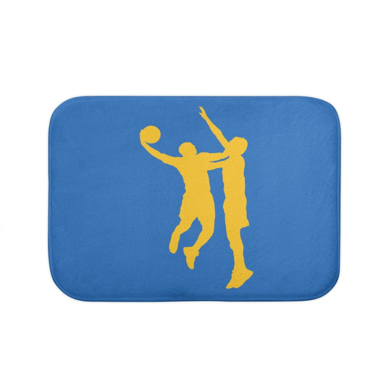 The Dunk Home Bath Mat by Mike Hampton's T-Shirt Shop