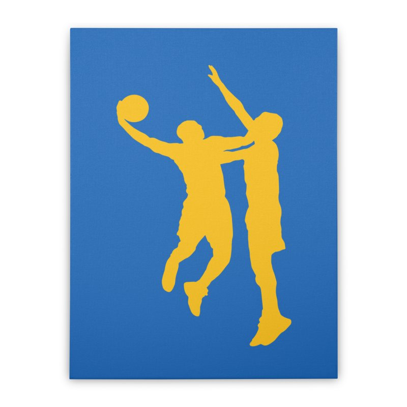 The Dunk Home Stretched Canvas by Mike Hampton's T-Shirt Shop