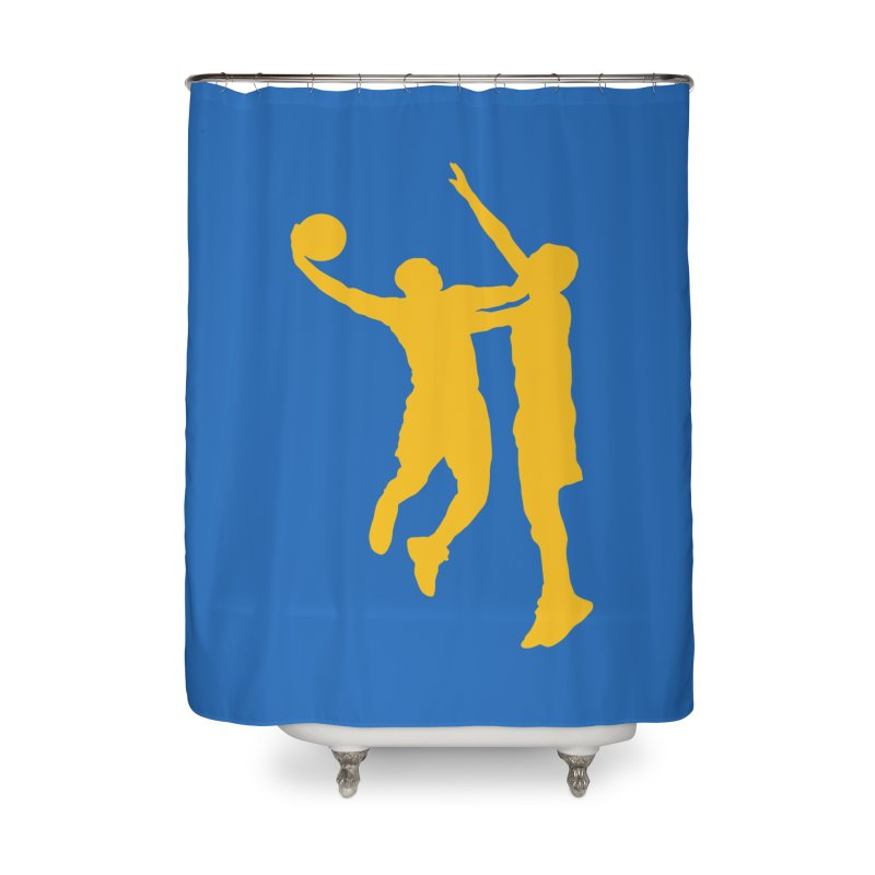 The Dunk Home Shower Curtain by Mike Hampton's T-Shirt Shop