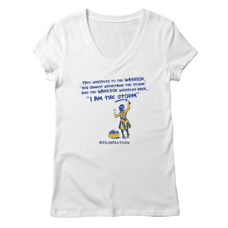 I am the Storm Women's Regular V-Neck by Mike Hampton's T-Shirt Shop