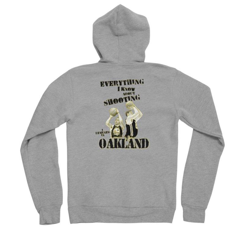 I Learned Things in Oakland Men's Sponge Fleece Zip-Up Hoody by Mike Hampton's T-Shirt Shop