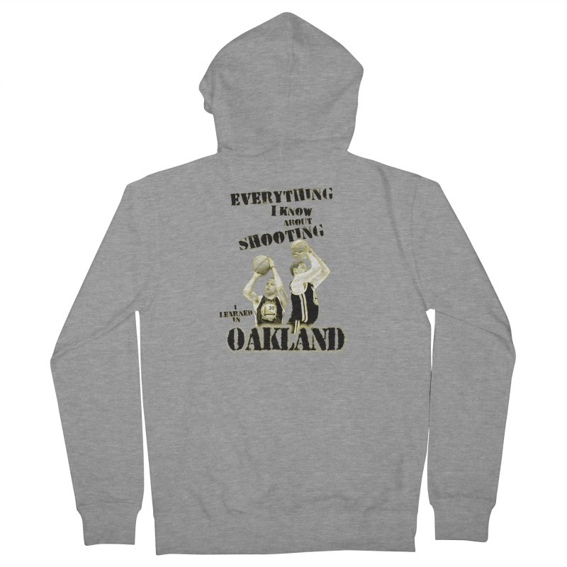 I Learned Things in Oakland Men's French Terry Zip-Up Hoody by Mike Hampton's T-Shirt Shop