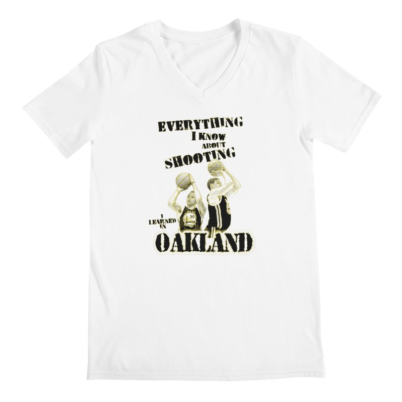 I Learned Things in Oakland Men's Regular V-Neck by Mike Hampton's T-Shirt Shop