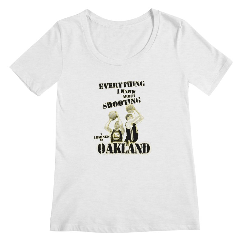 I Learned Things in Oakland Women's Regular Scoop Neck by Mike Hampton's T-Shirt Shop