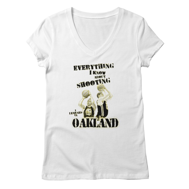 I Learned Things in Oakland Women's Regular V-Neck by Mike Hampton's T-Shirt Shop