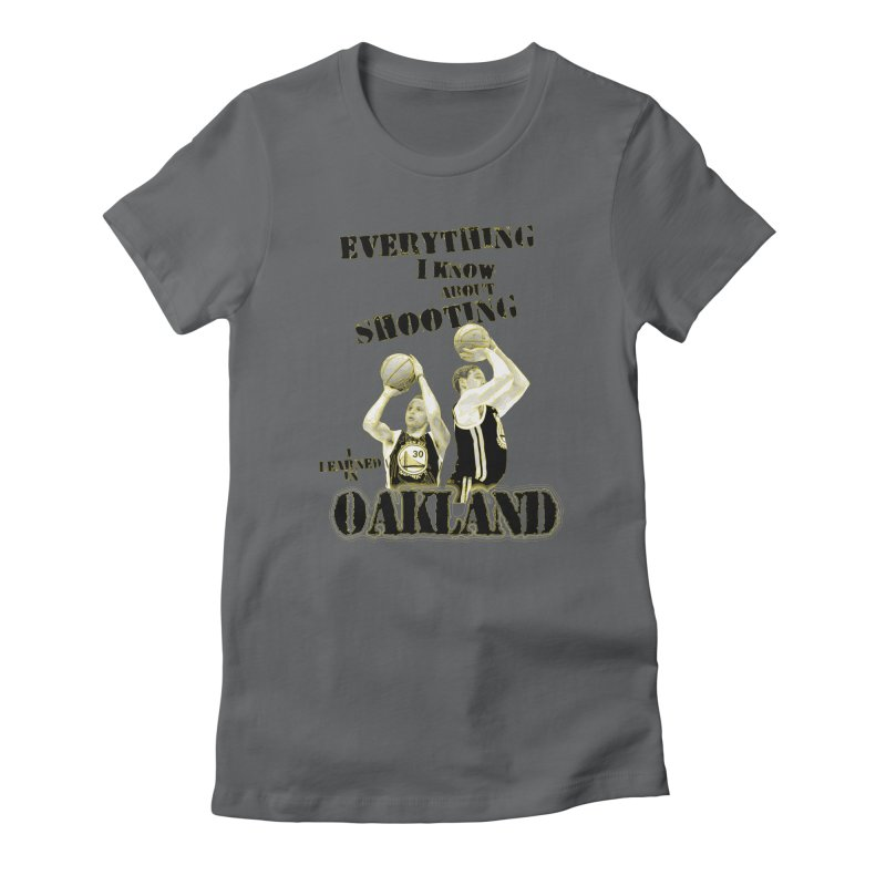I Learned Things in Oakland Women's Fitted T-Shirt by Mike Hampton's T-Shirt Shop