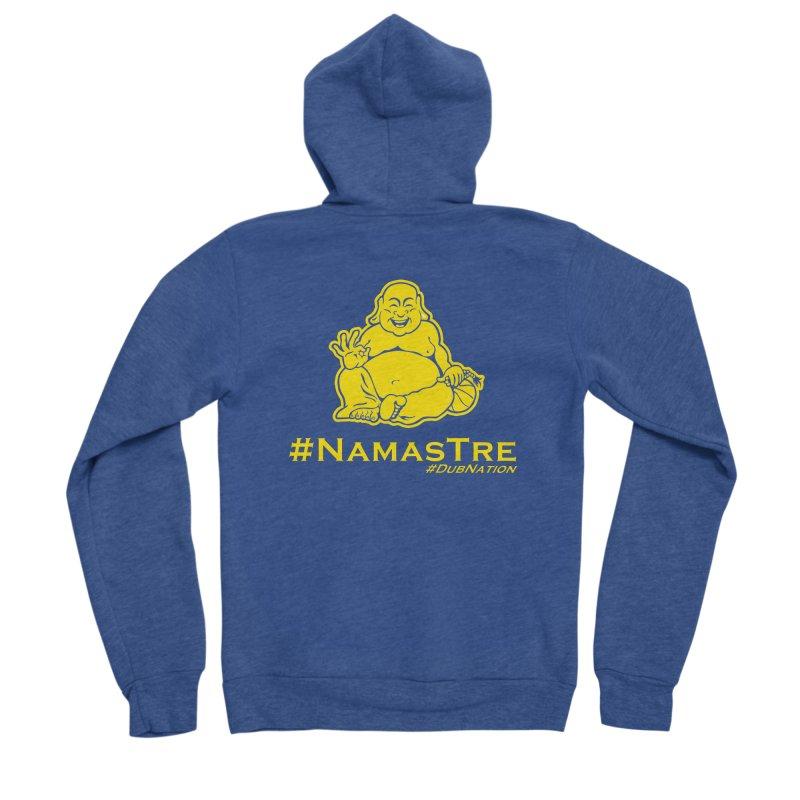 NamasTre (Fat Buddha) version Women's Sponge Fleece Zip-Up Hoody by Mike Hampton's T-Shirt Shop