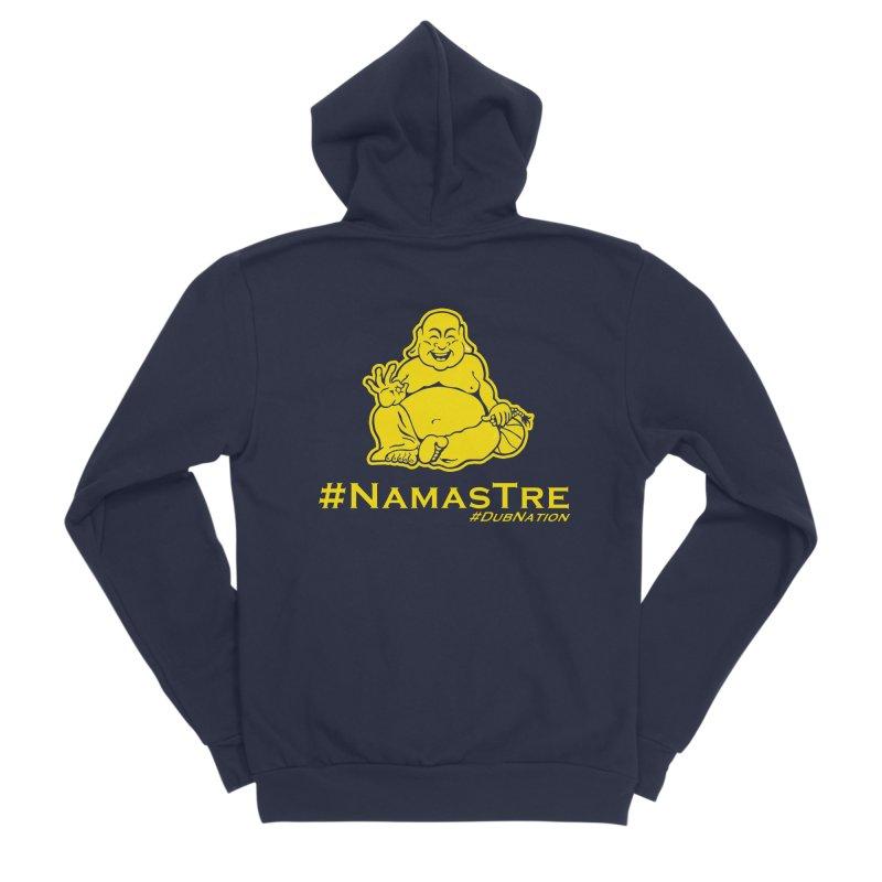 NamasTre (Fat Buddha) version Men's Sponge Fleece Zip-Up Hoody by Mike Hampton's T-Shirt Shop