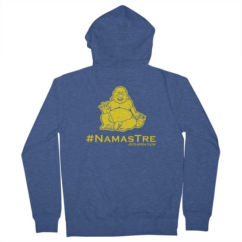 NamasTre (Fat Buddha) version Women's French Terry Zip-Up Hoody by Mike Hampton's T-Shirt Shop