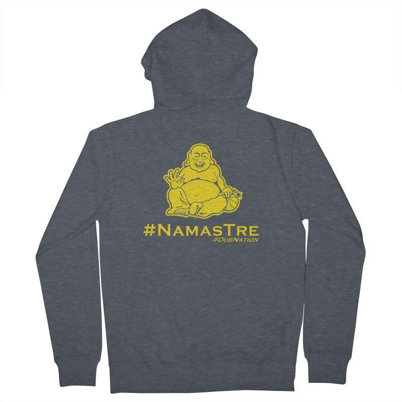 NamasTre (Fat Buddha) version Men's French Terry Zip-Up Hoody by Mike Hampton's T-Shirt Shop