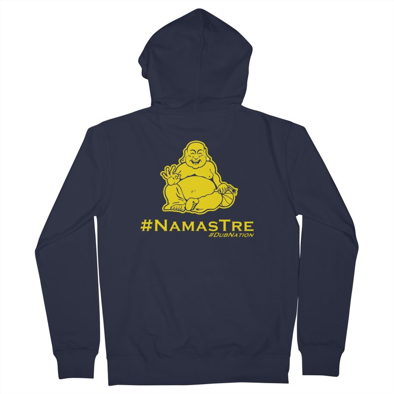 NamasTre (Fat Buddha) version Men's French Terry Zip-Up Hoody by Mike Hampton's T-Shirt Shop