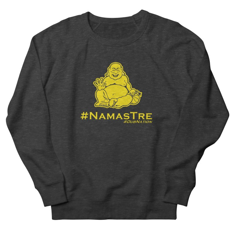 NamasTre (Fat Buddha) version Men's French Terry Sweatshirt by Mike Hampton's T-Shirt Shop