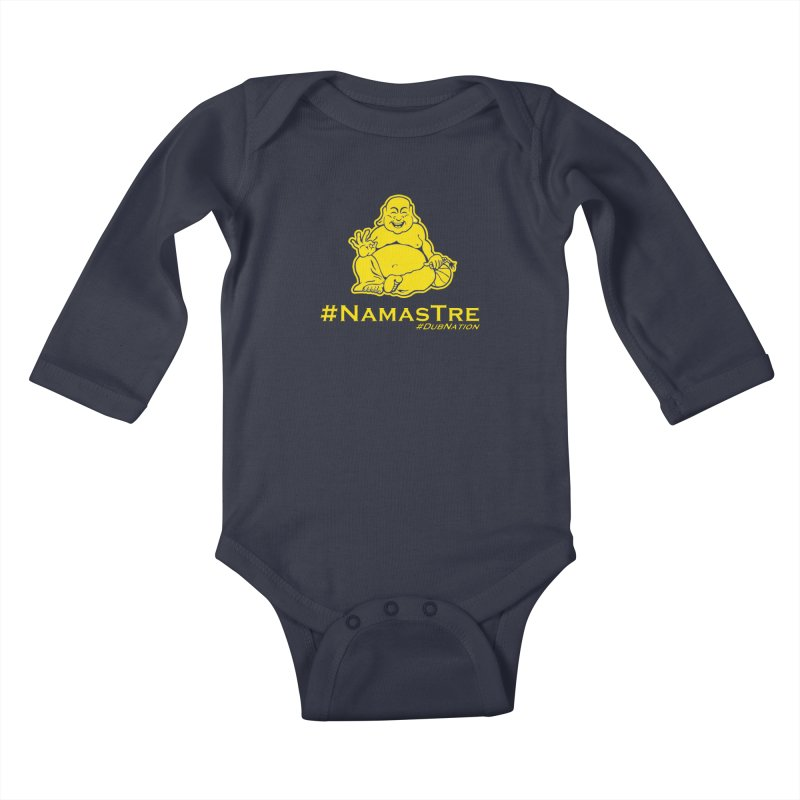NamasTre (Fat Buddha) version Kids Baby Longsleeve Bodysuit by Mike Hampton's T-Shirt Shop