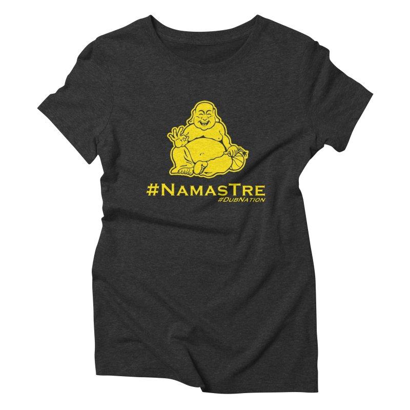 NamasTre (Fat Buddha) version Women's Triblend T-Shirt by Mike Hampton's T-Shirt Shop