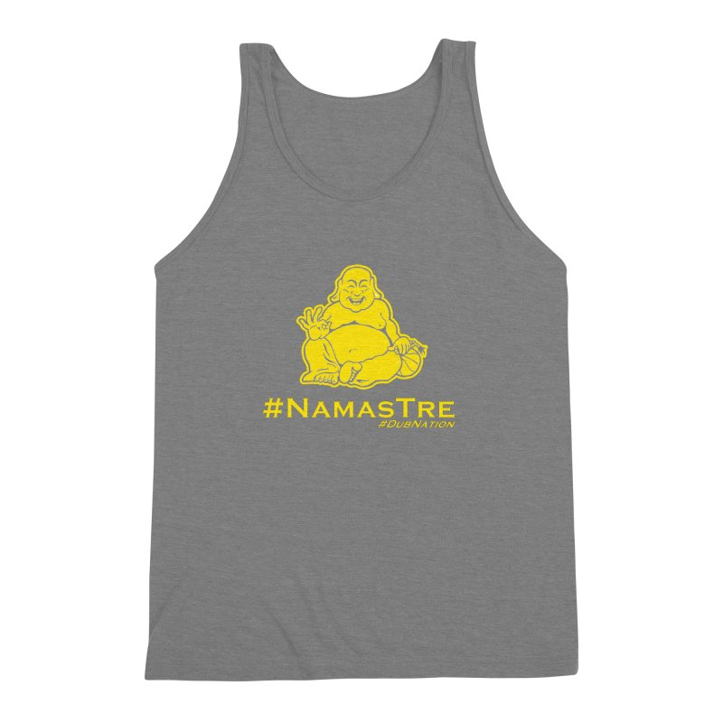 NamasTre (Fat Buddha) version Men's Triblend Tank by Mike Hampton's T-Shirt Shop