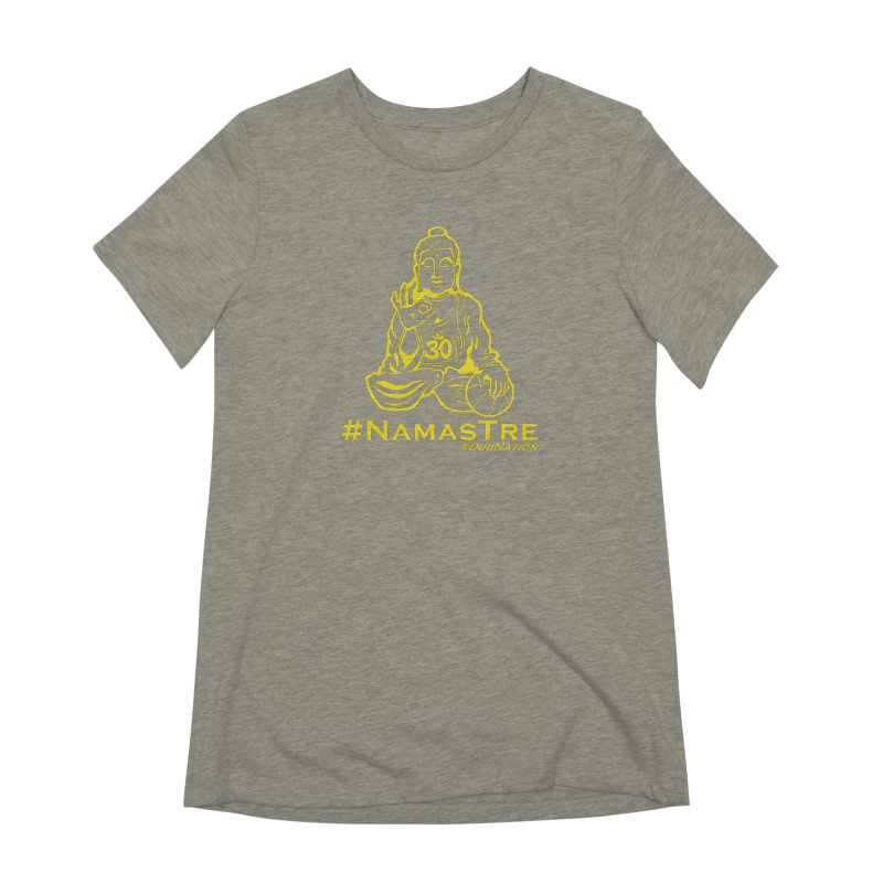 Namastre (Thin Buddha) version Women's Extra Soft T-Shirt by Mike Hampton's T-Shirt Shop