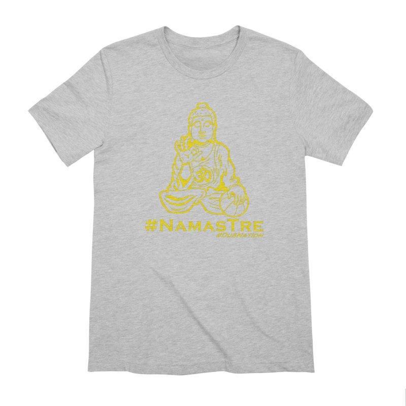 Namastre (Thin Buddha) version Men's Extra Soft T-Shirt by Mike Hampton's T-Shirt Shop