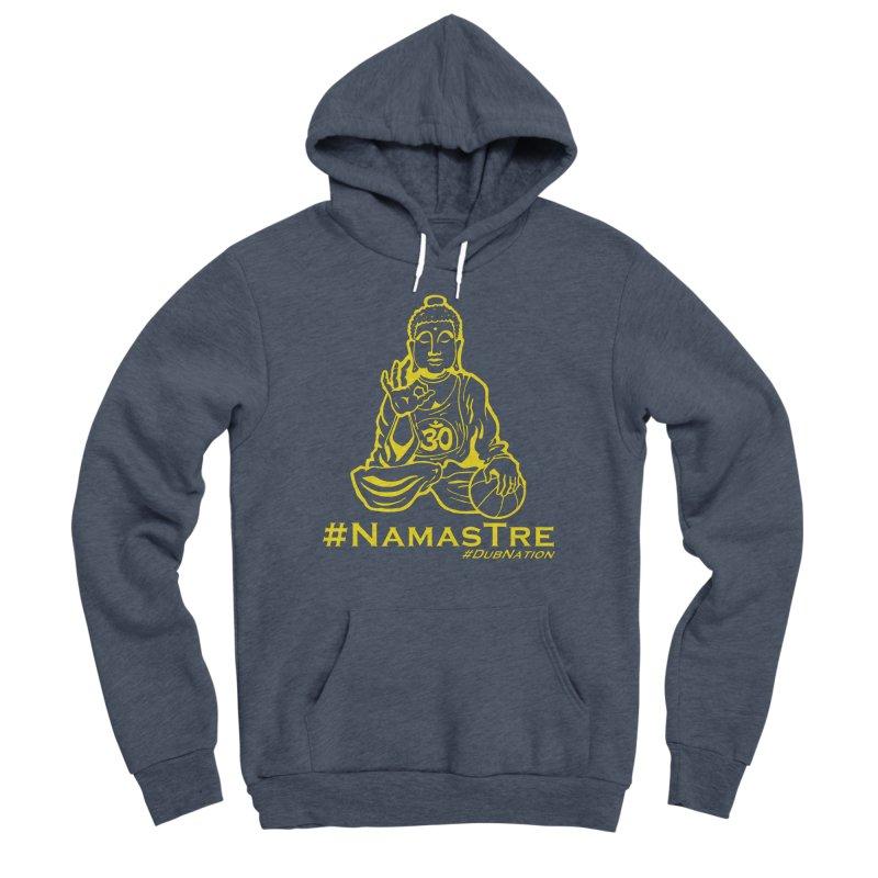 Namastre (Thin Buddha) version Men's Sponge Fleece Pullover Hoody by Mike Hampton's T-Shirt Shop