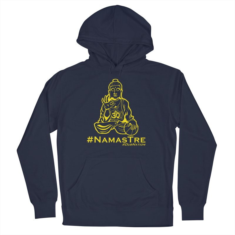 Namastre (Thin Buddha) version Men's French Terry Pullover Hoody by Mike Hampton's T-Shirt Shop