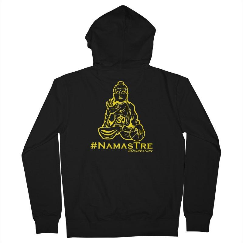 Namastre (Thin Buddha) version Men's French Terry Zip-Up Hoody by Mike Hampton's T-Shirt Shop
