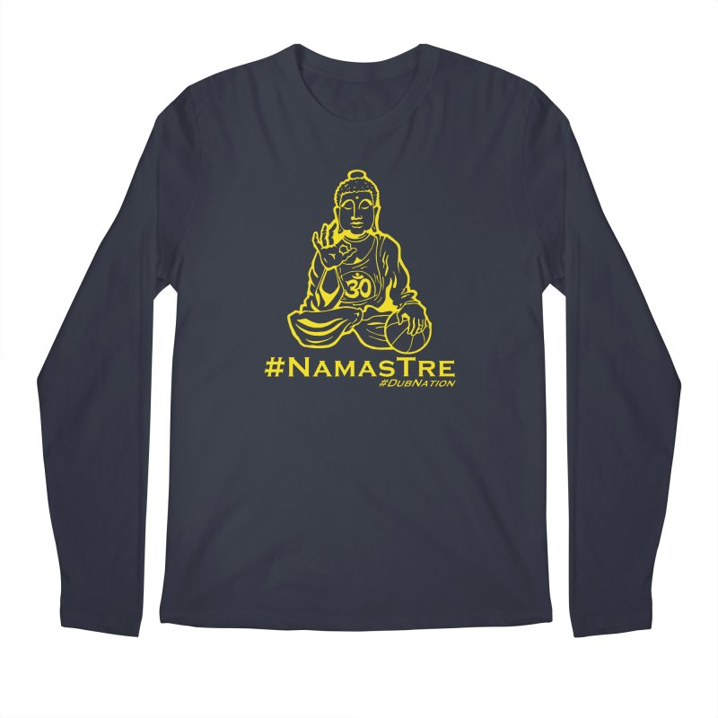 Namastre (Thin Buddha) version Men's Regular Longsleeve T-Shirt by Mike Hampton's T-Shirt Shop