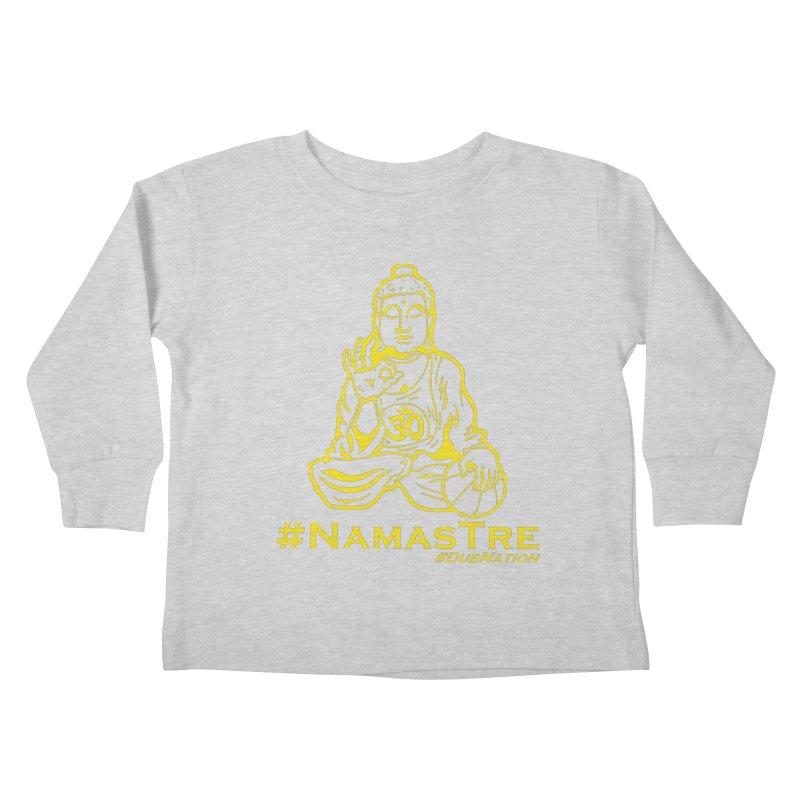 Namastre (Thin Buddha) version Kids Toddler Longsleeve T-Shirt by Mike Hampton's T-Shirt Shop