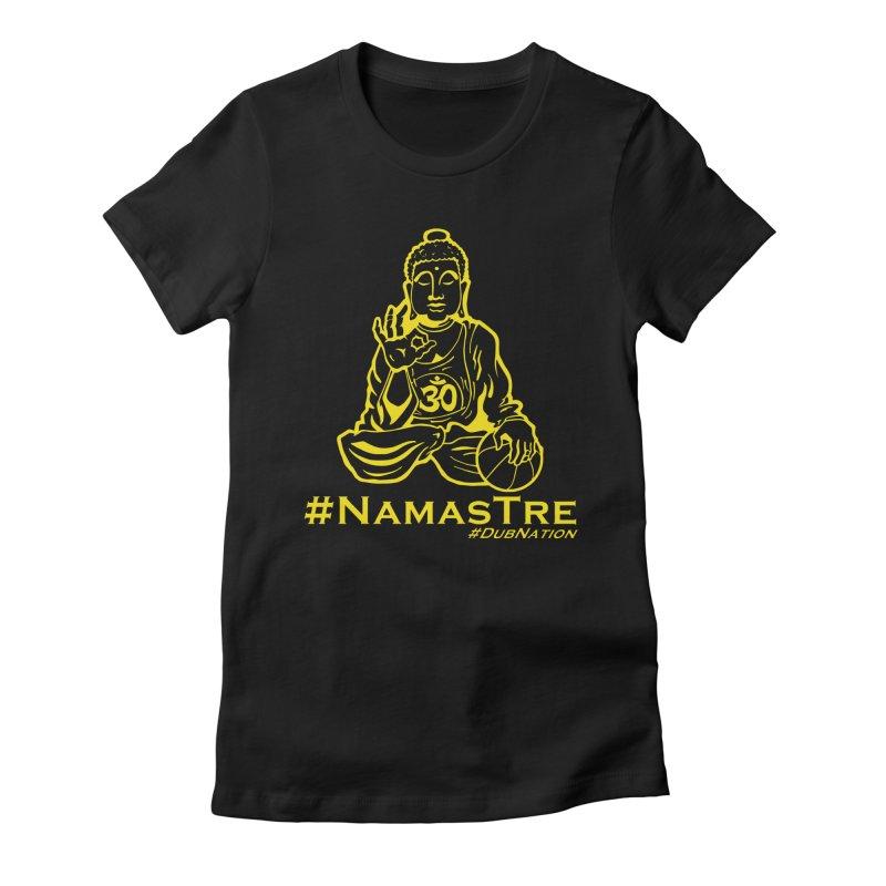 Namastre (Thin Buddha) version Women's Fitted T-Shirt by Mike Hampton's T-Shirt Shop