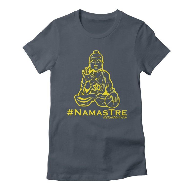 Namastre (Thin Buddha) version Women's T-Shirt by Mike Hampton's T-Shirt Shop