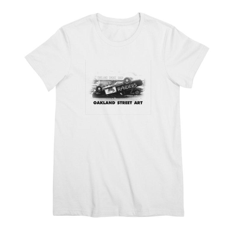 Oakland Street Art Women's Premium T-Shirt by Mike Hampton's T-Shirt Shop