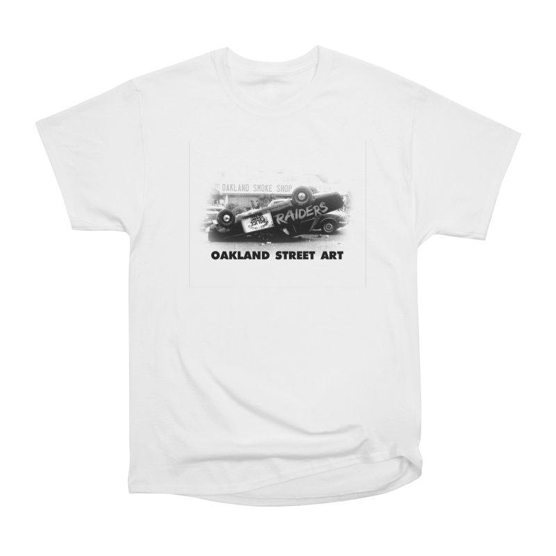 Oakland Street Art Women's Heavyweight Unisex T-Shirt by Mike Hampton's T-Shirt Shop