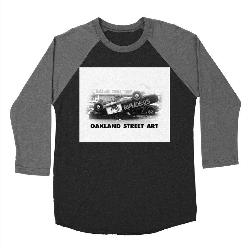 Oakland Street Art Women's Baseball Triblend Longsleeve T-Shirt by Mike Hampton's T-Shirt Shop