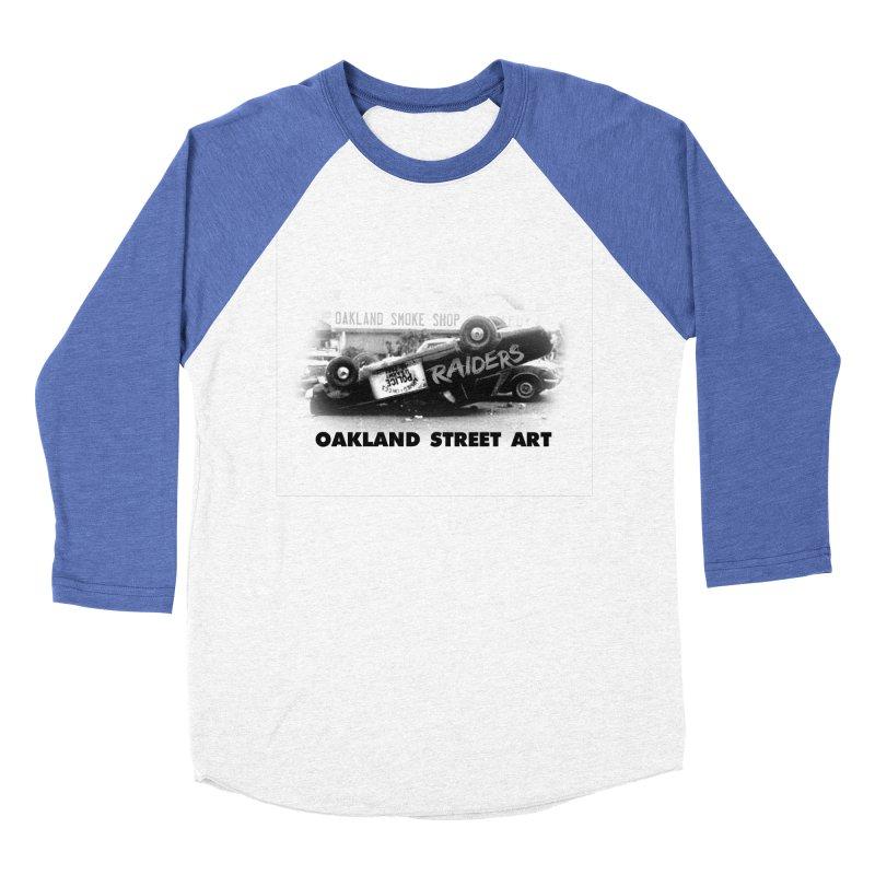 Oakland Street Art Men's Baseball Triblend Longsleeve T-Shirt by Mike Hampton's T-Shirt Shop