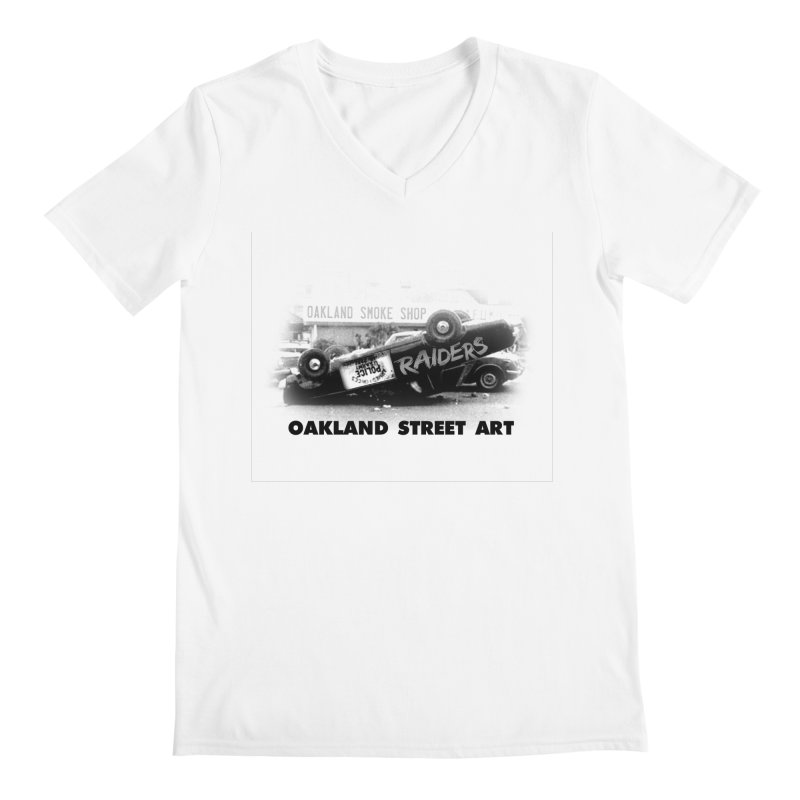 Oakland Street Art Men's Regular V-Neck by Mike Hampton's T-Shirt Shop