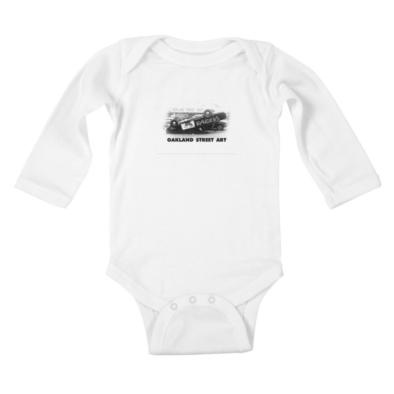 Oakland Street Art Kids Baby Longsleeve Bodysuit by Mike Hampton's T-Shirt Shop